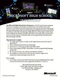MS Intern Flyer